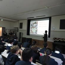 Global Lecture Seminar at Keimei Gakuen Junior High School.